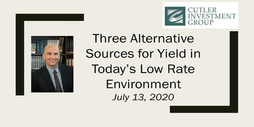 Three Alternative Sources for Yield in Today's Low Rate Environment
